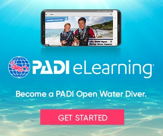 PADI elearing become a PADI Open Water Diver banner